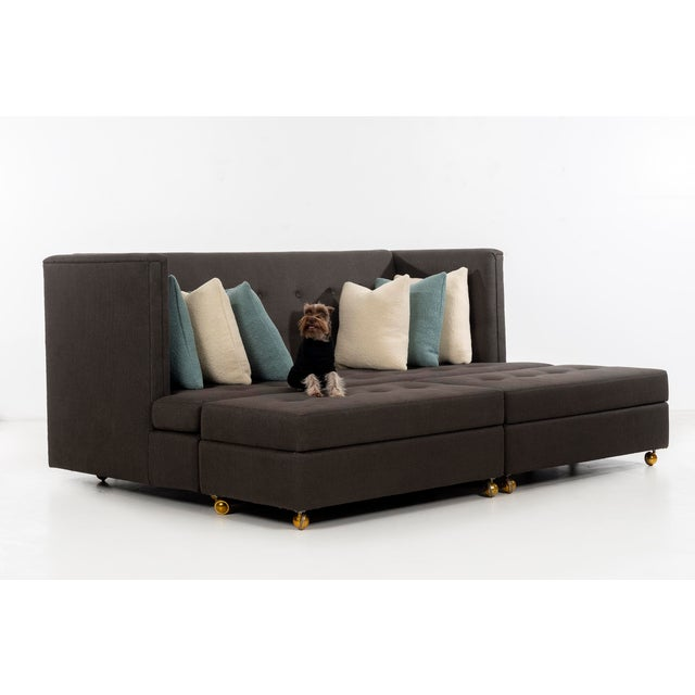 Milo Baughman Shelter Sofa and Ottomans For Sale - Image 13 of 13