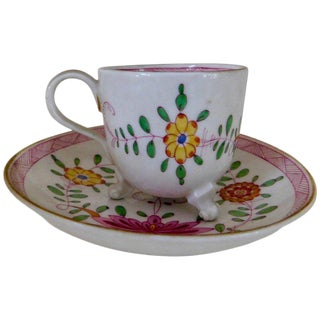 18th Century Asian Kakiemon Style Meissen Demitasse Marcolini Cup and Saucer