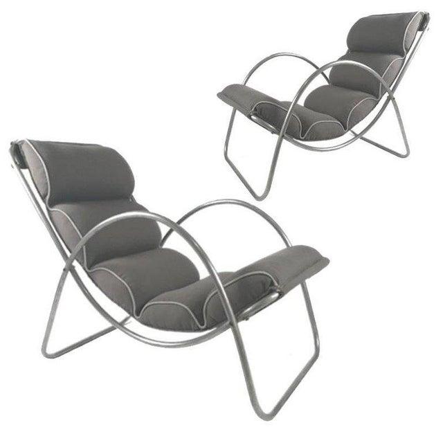 Pair of Halliburton Lounge Chairs, 1930s Art Deco Machine Age Modernist Design For Sale - Image 10 of 10