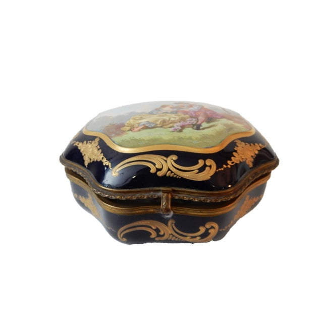 19th-C French Porcelain Dresser Box - Image 10 of 10