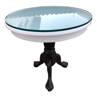1990s Vintage Oak Pedestal Table