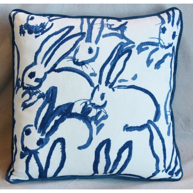 "Abstract Designer Groundworks Bunny Hutch Feather/Down Pillows 17"" Square - Pair For Sale - Image 3 of 13"