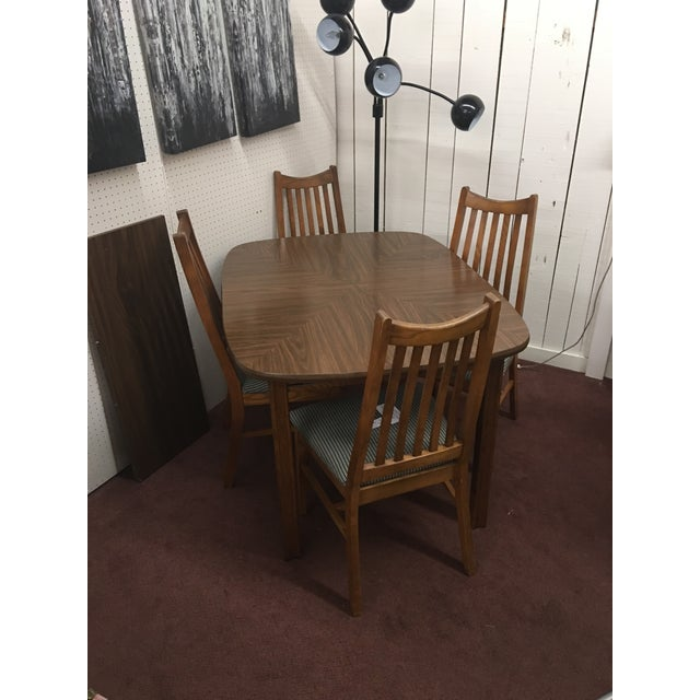 Mid-Century Wood Dining Set - Image 2 of 10