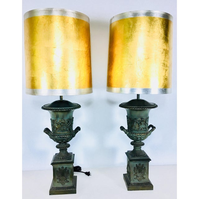 Mid-Century Classical Urn Lamps – a Pair For Sale - Image 11 of 12