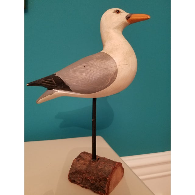 Paint Carved Painted Seagull Figure For Sale - Image 7 of 7