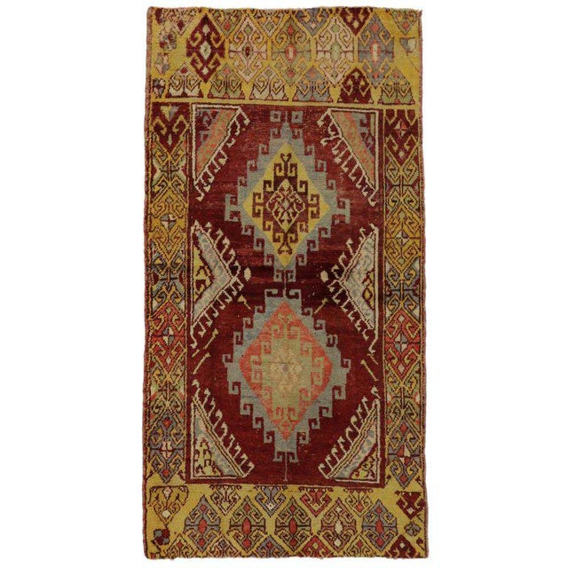 20th Century Turkish Oushak Accent Rug For Sale - Image 4 of 4