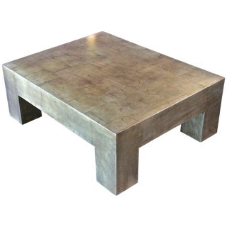 Italian Gold Leaf Coffee Table For Sale