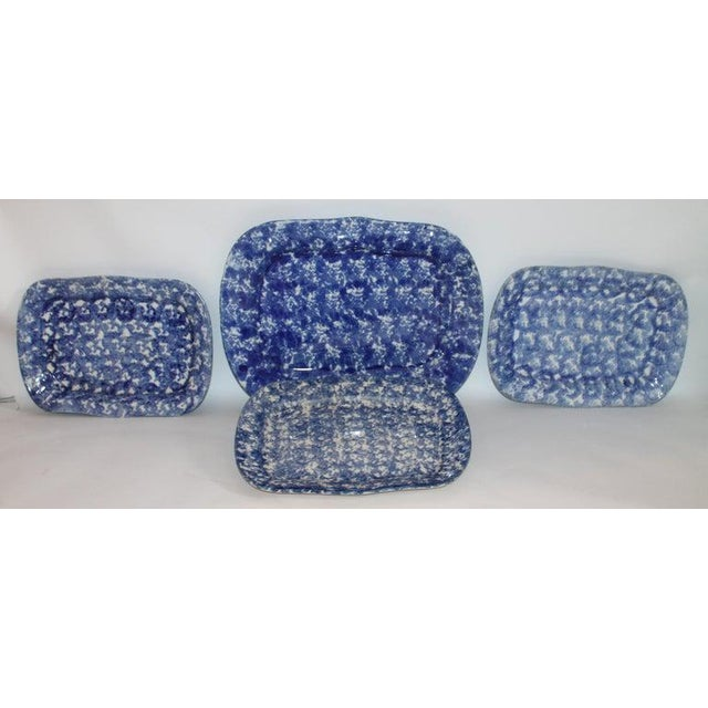 Farmhouse 19th Century Sponge Ware Platters - Collection of 4 For Sale - Image 3 of 9