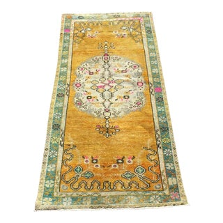 Rustic Hand Knotted Turkish Area Rug For Sale