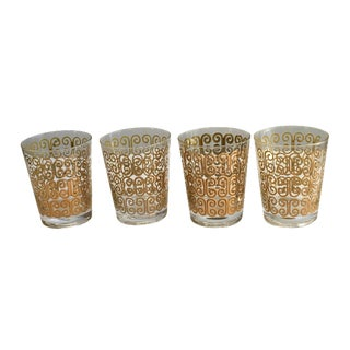 Hollywood Regency Fred Press Whiskey Glasses - S/4 For Sale