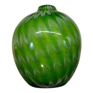 Mid-Century Modern Norwegian Green Glass Bud Vase For Sale