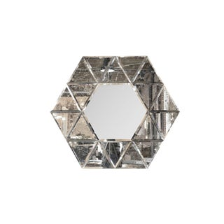 Large Hexagonal Antiqued Mirror Preview