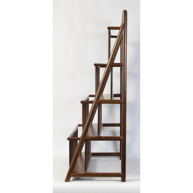 Asian Large and Unusual Mid-20th Century Magazine Rack For Sale - Image 3 of 9
