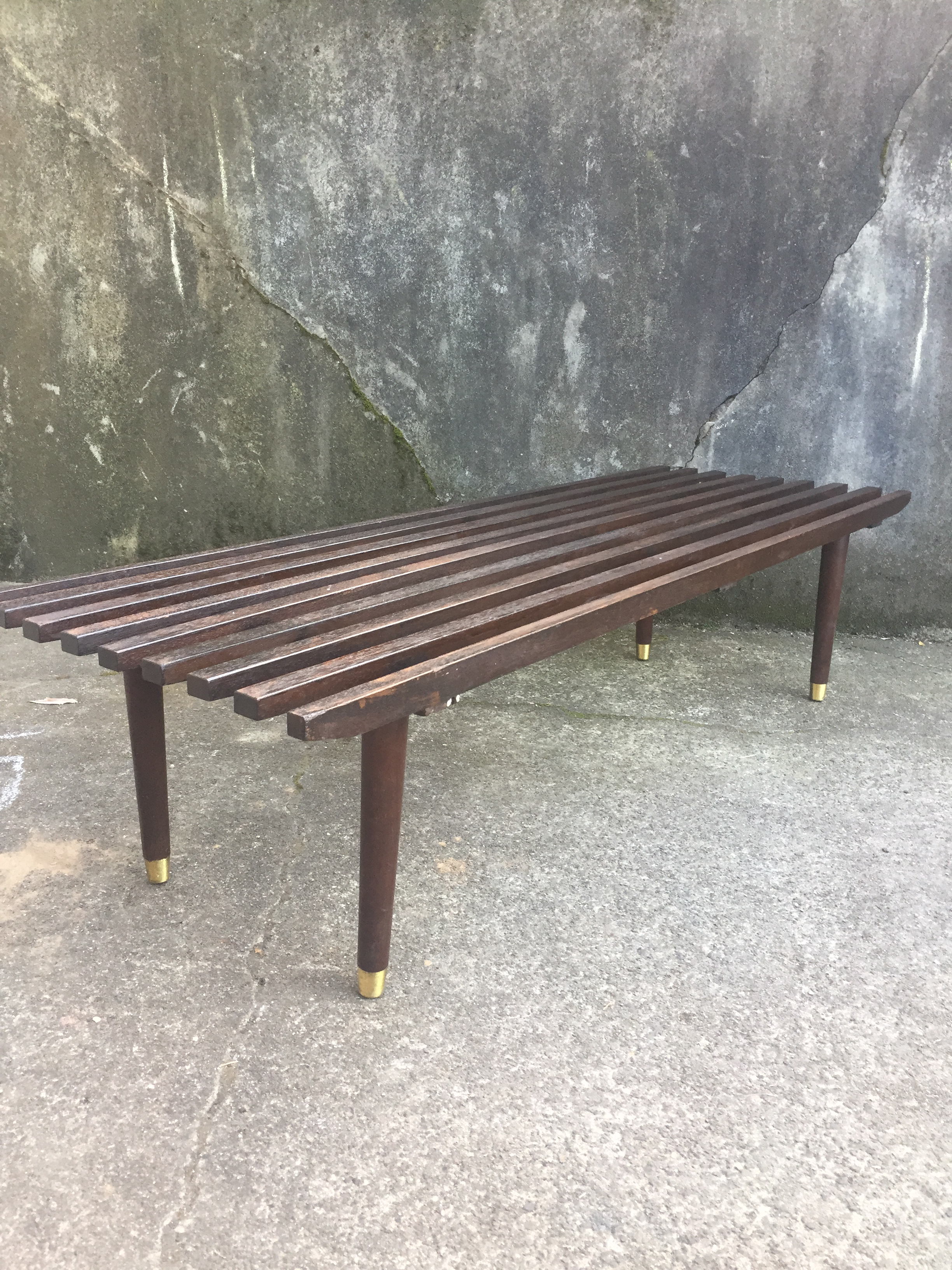 Mid Century Slat Coffee Table For Sale   Image 4 Of 4