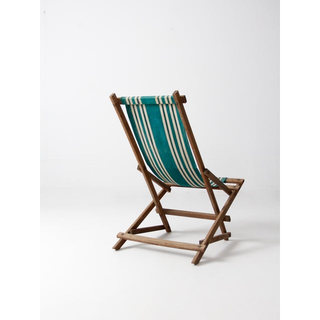 Americana Vintage American Deck Chair For Sale - Image 3 of 9