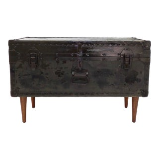 1946 Industrial Miller Coffee Table Trunk For Sale