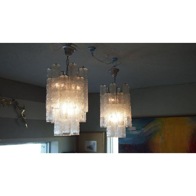 Italian Mid-Century Glass Chandeliers - A Pair - Image 2 of 2
