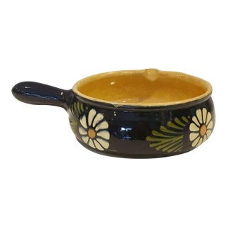 Mexican Terracotta Hand Painted Cooking Pot