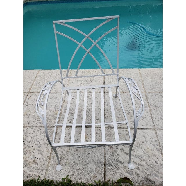 1940s Vintage Salterini Wrought Iron Club Chair For Sale In Miami - Image 6 of 7