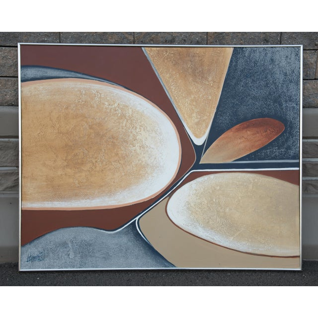 1970s Large Abstract Vanguard Studio Painting by Lee Reynolds For Sale - Image 9 of 9