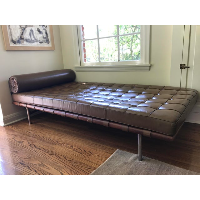 Mies Van Der Rohe Brown Leather Daybed - Image 2 of 6