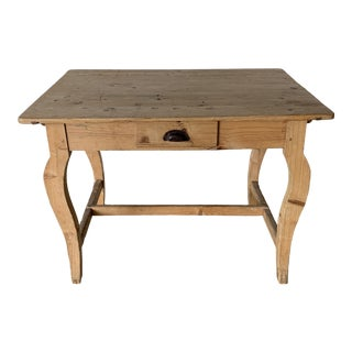 Antique Pine Writing Desk For Sale