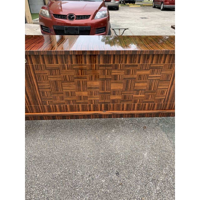 1940s Art Deco Exotic Macassar Ebony Sideboard/Credenza For Sale - Image 12 of 13