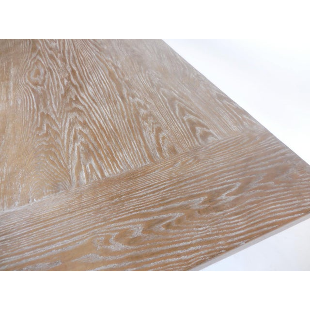 Country Custom Oak Classic Trestle Table For Sale - Image 3 of 7