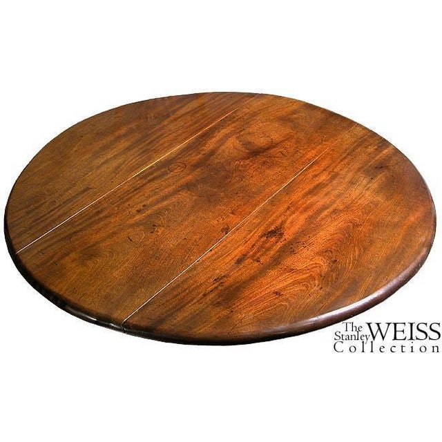 Mahogany Queen Anne Oval Dropleaf Table with Trifid Feet - Image 4 of 5