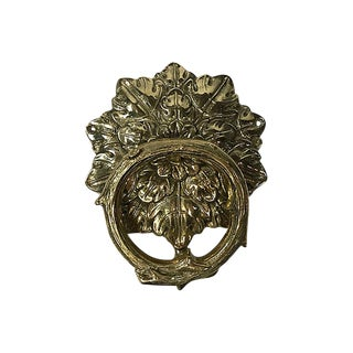 Brass Leaf Door Knocker For Sale