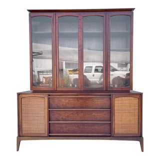 Mid-Century Sideboard With China Cabinet by Lane Furniture For Sale