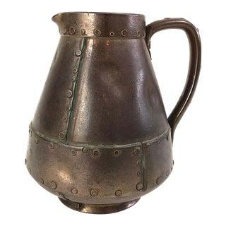 "English Royal Doulton Trompe l'Oeil ""Copper"" Pitcher in Pottery For Sale"