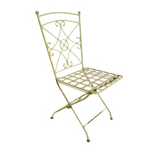 Vintage Iron Garden Chairs - Set of 5 For Sale