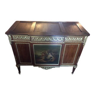 Early 19th Century French Painted & Bronze Mounted Cabinet With Keys For Sale
