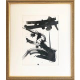 Image of Vintage Mid Century Modern Abstract Expressionist Watercolor/ Ink Painting For Sale