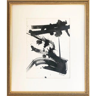 Vintage Mid Century Modern Abstract Expressionist Watercolor/ Ink Painting For Sale