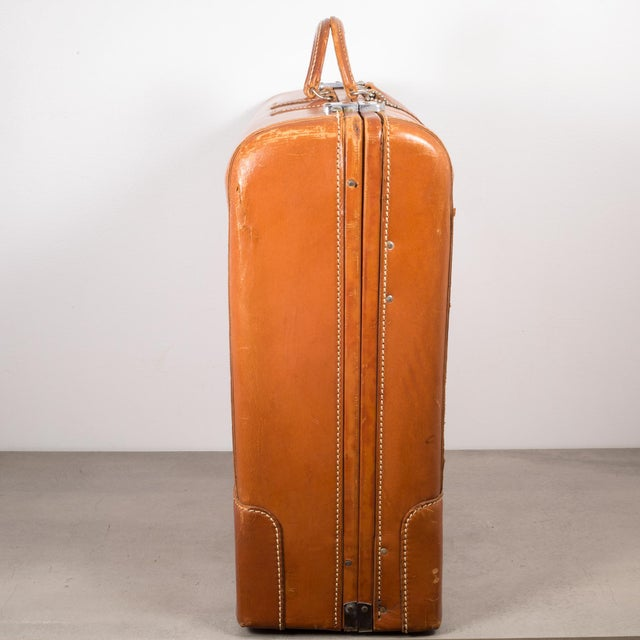 "Vintage ""The Colonel"" Leather Luggage C.1950-1960 For Sale In San Francisco - Image 6 of 13"