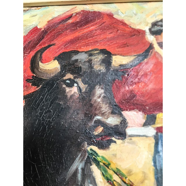 Antique Spanish Matador Oil on Canvas Painting For Sale - Image 4 of 10