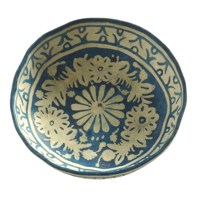 Folk Art Painted Gourd Bowl - Image 1 of 8