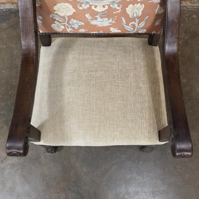 19th Century Spanish Armchair With Needlepoint Tapestry For Sale - Image 9 of 10