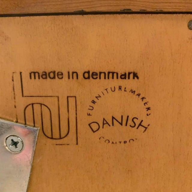 Maurice Villency Pair Poul Hundevad Danish Modern Teak Bookcases Shelves W. 4-Drawer Chest Base For Sale - Image 4 of 9