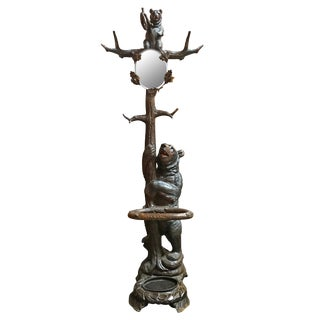 Early 20th Century Swiss Black Forest Hall Tree Attributed to Seilar-Brawant For Sale