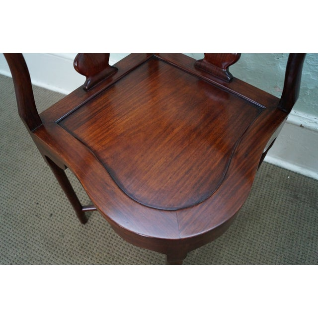 Chinese Rosewood Carved Corner Arm Chair - Image 9 of 10