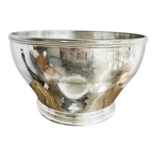 Antique Silver Plated Waldorf Astoria Serving Bowl For Sale
