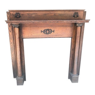 Early 20th Century Fireplace Surround Mantel For Sale