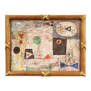 Isami Adachi Geometric Abstract 1950s For Sale