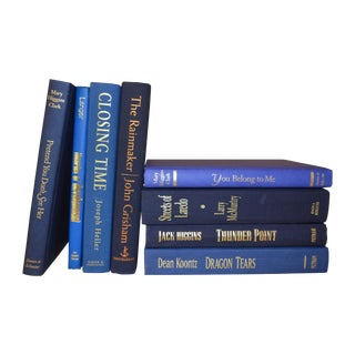 Blue Display Books - Set of 8 For Sale