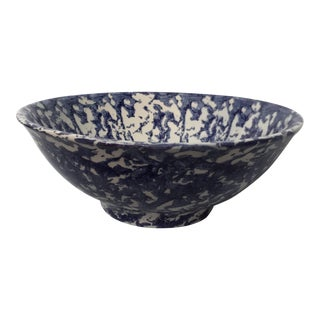 Blue & White Spongeware Bowl
