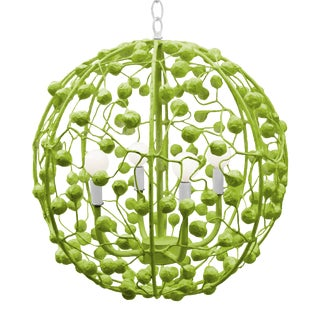 Green Celeste Sphere Ceiling Light by Stray Dog For Sale