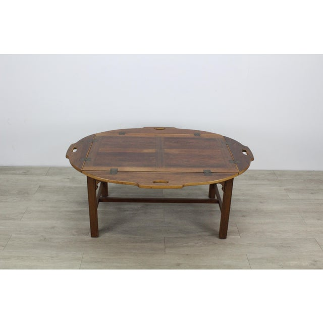 Mid-Century Walnut Tray Table For Sale In Miami - Image 6 of 12